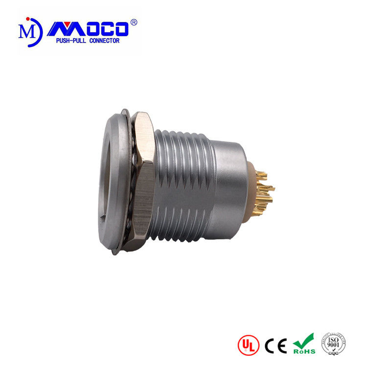 EGG 1B 310  10 Pin Circular Connector , Receptacle Panel Mount Power Connector