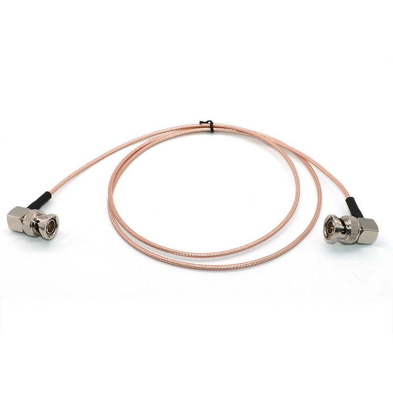 Straight To Right Angle BNC RG179 50 Ohm 75 Ohm SDI Cable